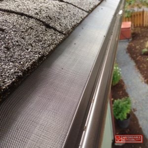 A Mesh Leaf Guard On Gutter