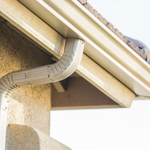 A Seamless Gutter and Downspout