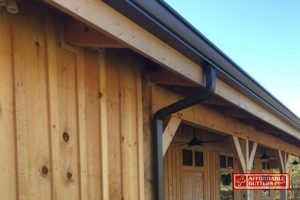 Pine Fascia Board Along Pine Home